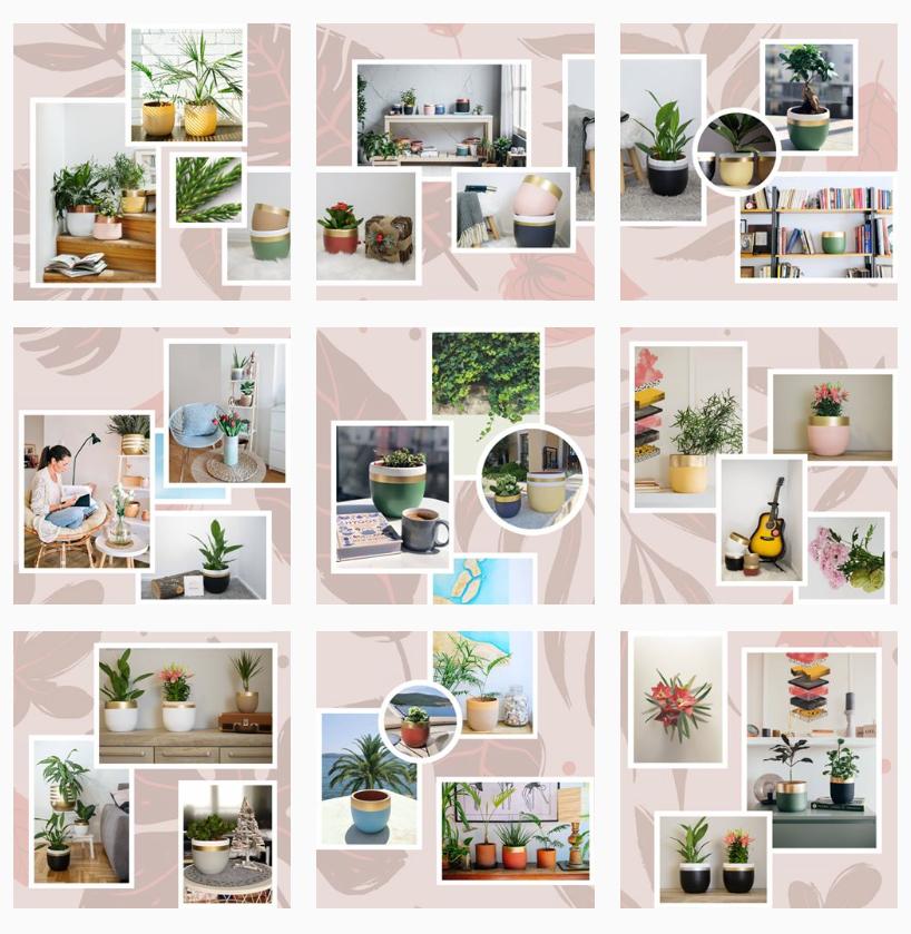 Glinka saksije Instagram feed
